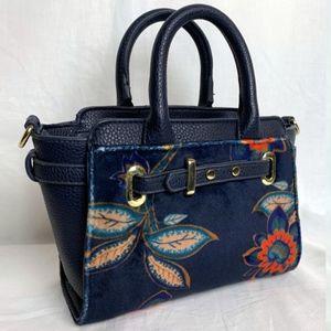 Unique Navy & Floral Mini Handbag